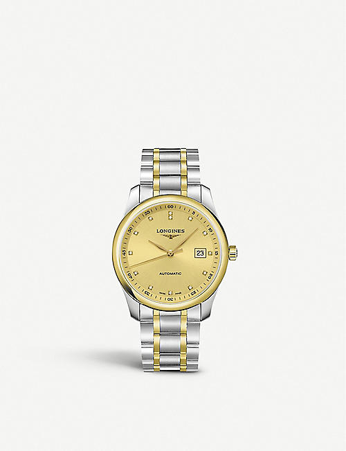 21ef7d60407 LONGINES L2.793.5.37.7 Master 18ct yellow-gold cap 200 and stainless steel