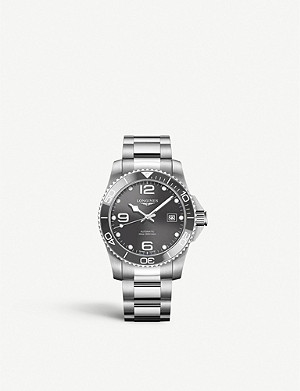 LONGINES L37814766 Hydroconquest stainless steel watch