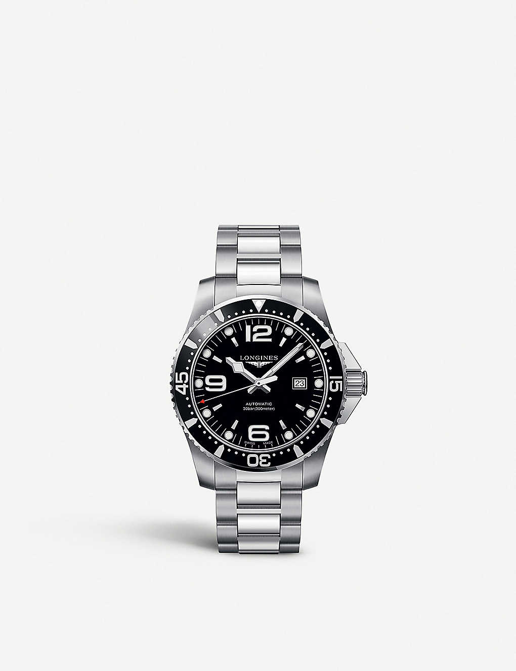 LONGINES: L38414566 Hydroconquest steel watch