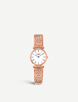 LONGINES L4.209.1.11.8 La Grande Classique rose gold-plated watch