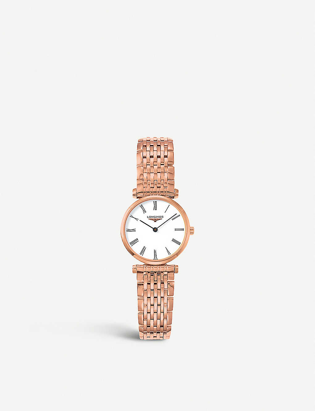 LONGINES: L4.209.1.11.8 La Grande Classique rose gold-plated watch