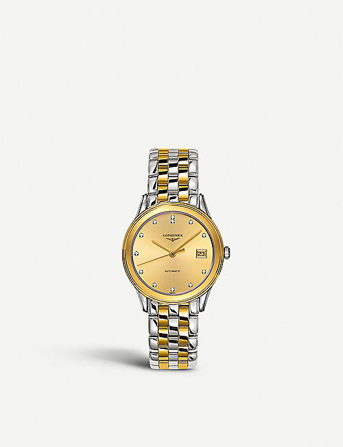 LONGINES: L4.774.3.37.7 La Grande Classique Flagship gold and steel watch