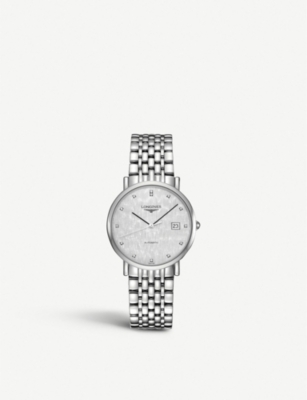 LONGINES L4.810.4.77.6 Elegant stainless steel and diamond watch