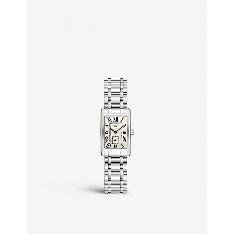LONGINES L5.255.0.71.6 Dolcevita Diamond-Studded Stainless Steel Watch in Silver