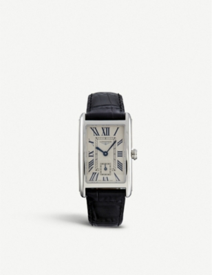 L5.512.4.71.0 Dolcevita Stainless Steel And Alligator Leather Watch by Longines