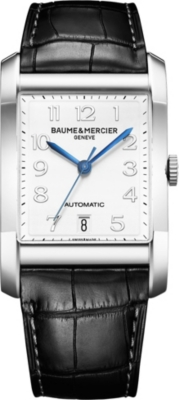 BAUME & MERCIER M0a10054 Hampton stainless steel and leather watch