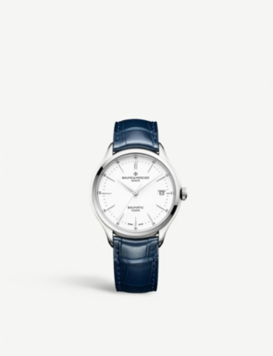 BAUME & MERCIER My Classima stainless steel and leather watch
