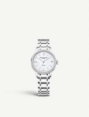 BAUME & MERCIER M0A10479 Classima diamond and stainless steel watch