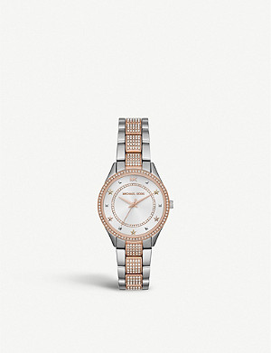 MICHAEL KORS MK4388 Lauryn stainless steel and pavé watch
