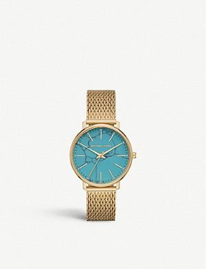 MICHAEL KORS MK4393 Pyper gold-tone and turquoise watch