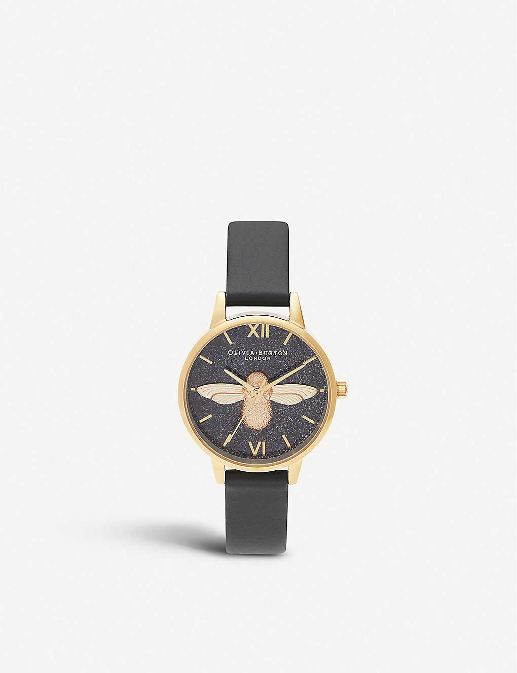 OLIVIA BURTON: OB16GD48 Glitter Dial yellow gold-plated watch