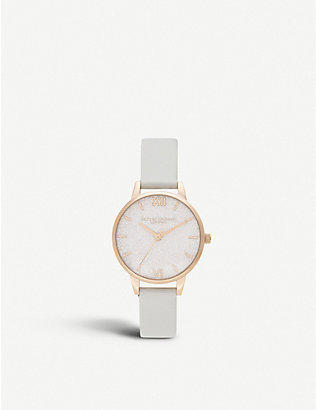 OLIVIA BURTON: OB16GD50 Glitter Dial rose gold-plated watch