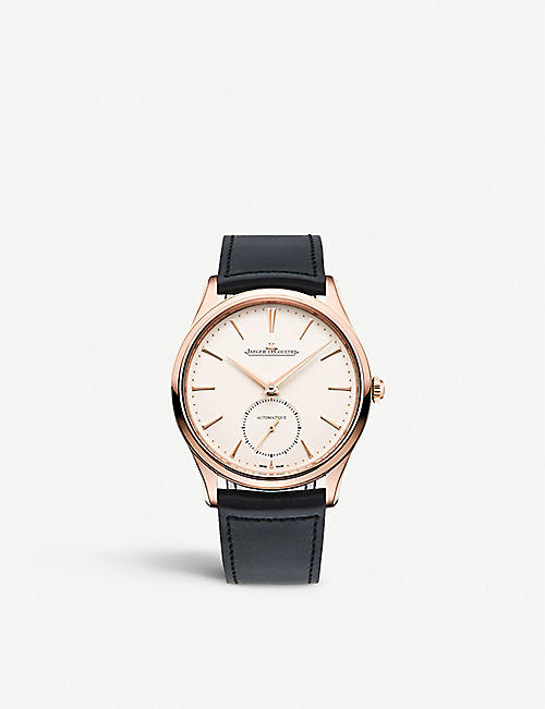 JAEGER-LECOULTRE: Q1212510 Master Ultra Thin pink-gold and leather watch