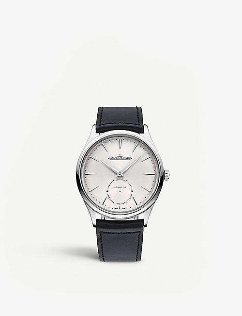 JAEGER-LECOULTRE Q1218420 Master Ultra Thin stainless steel and leather watch