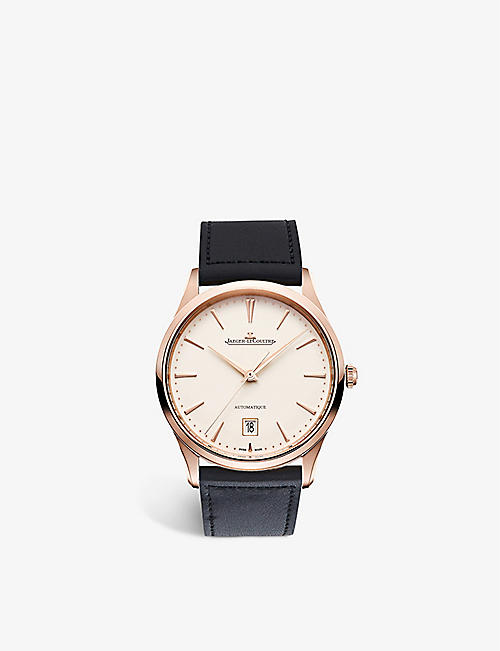 JAEGER-LECOULTRE Q1232510 Master Ultra Thin pink-gold and leather watch