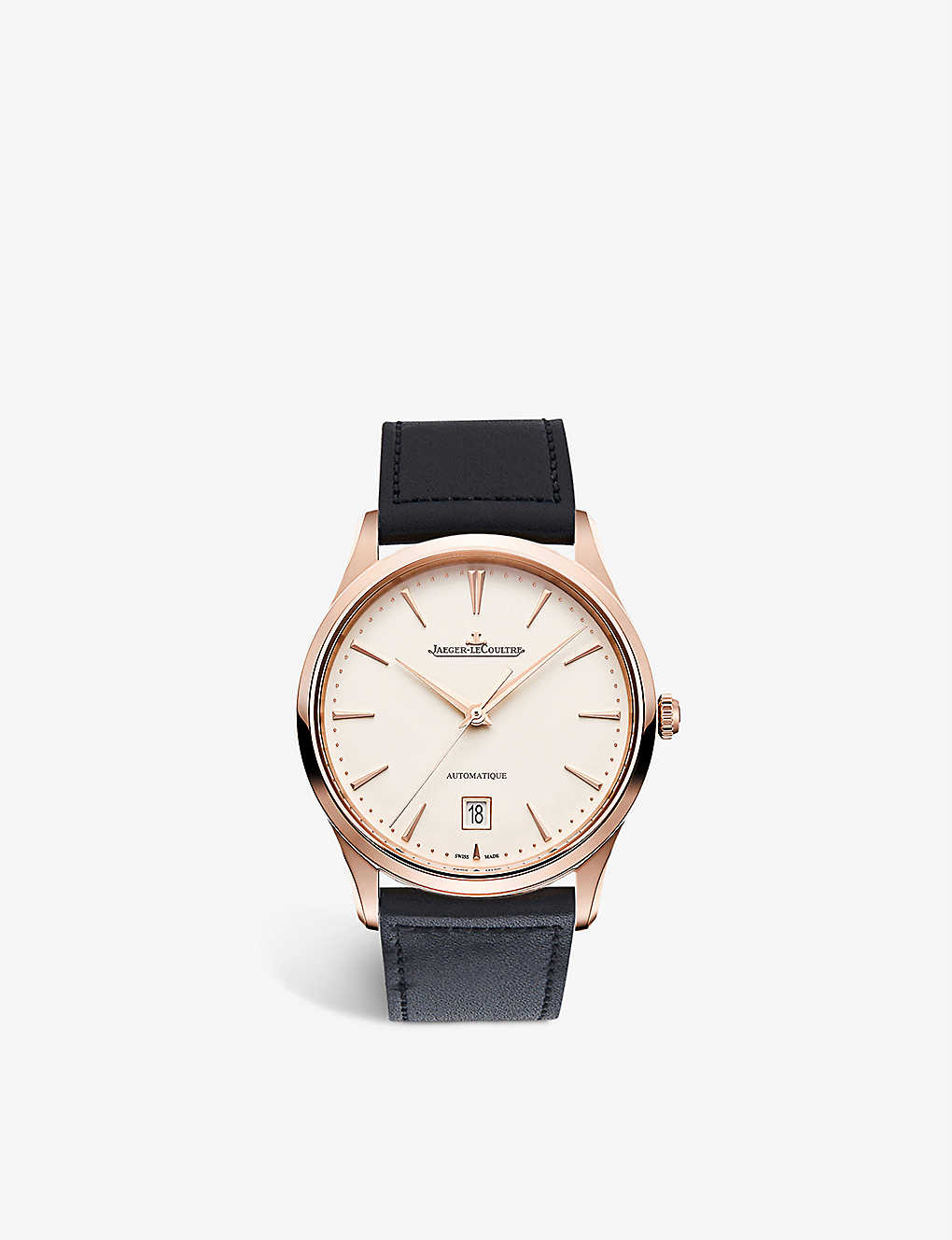 JAEGER-LECOULTRE: Q1232510 Master Ultra Thin rose-gold and calfskin-leather watch