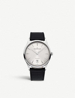 JAEGER-LECOULTRE Q1238420 Master Ultra Thin stainless steel and leather watch