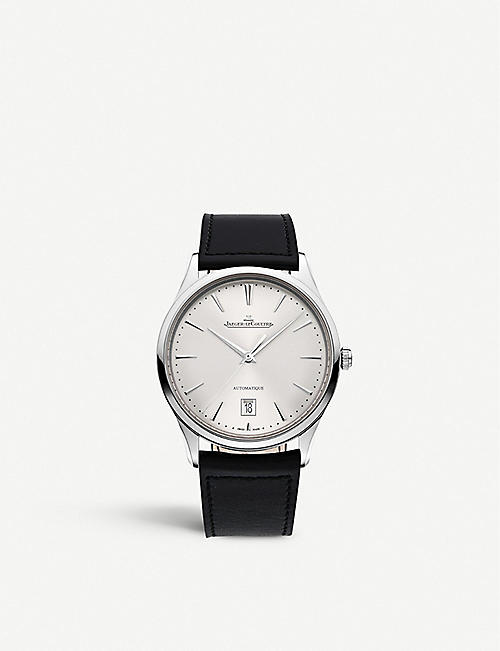 JAEGER-LECOULTRE: Q1238420 Master Ultra Thin stainless steel and leather watch