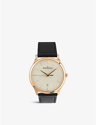 JAEGER-LECOULTRE: 1282510 Master Grande 18ct rose-gold and calfskin-leather watch