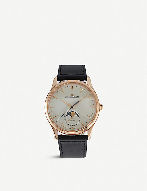 JAEGER-LECOULTRE: Q1362520 Master Moon Phase stainless steel and leather watch