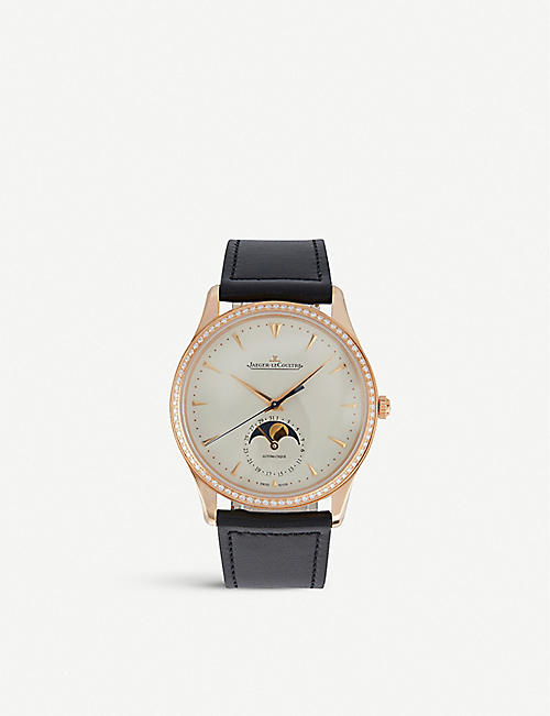 JAEGER-LECOULTRE: 1368420 Master leather and stainless steel watch