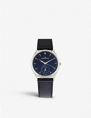 JAEGER-LECOULTRE: 1368470 Master stainless-steel and leather watch