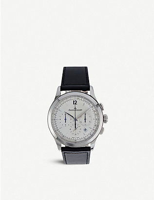 JAEGER-LECOULTRE: Q1538420 Master stainless steel and leather watch