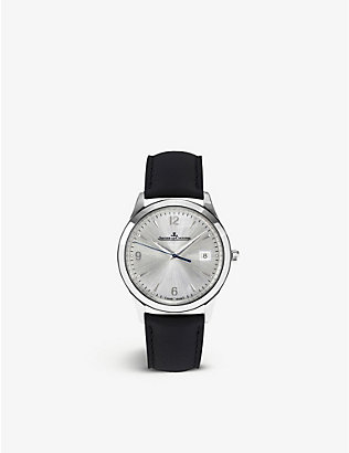 JAEGER-LECOULTRE: Q1548420 Master stainless steel and leather watch