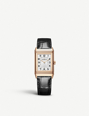 JAEGER-LECOULTRE Q2542540 Reverso Classic pink-gold and leather watch
