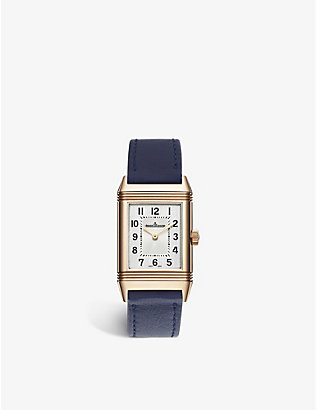 JAEGER-LECOULTRE: Q2602540 Reverso Classic pink-gold and leather watch