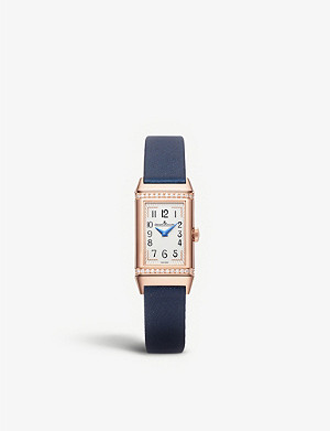 JAEGER-LECOULTRE Q3342520 Reverso One Duetto pink-gold and leather watch