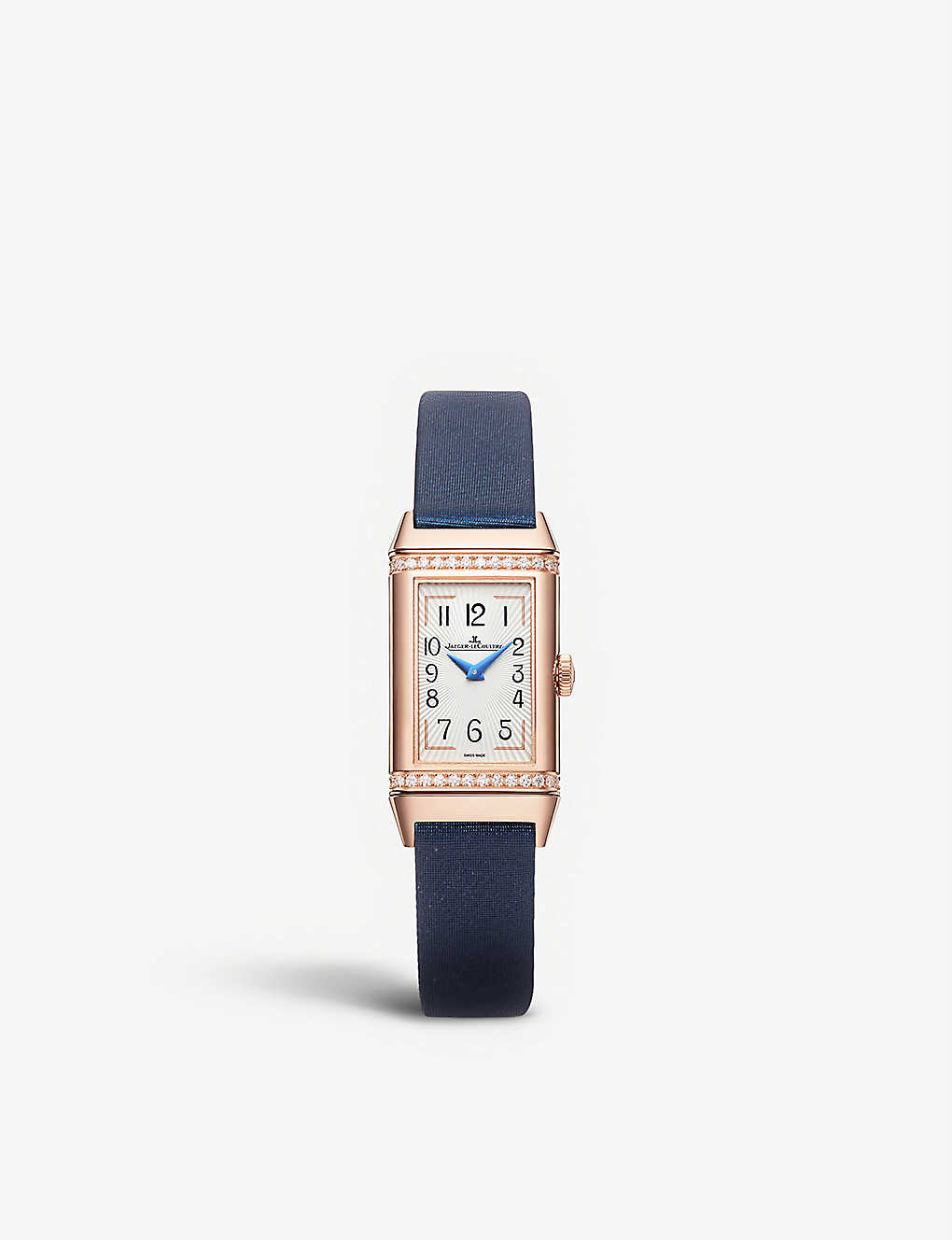 JAEGER-LECOULTRE: Q3342520 Reverso One Duetto pink-gold and leather watch