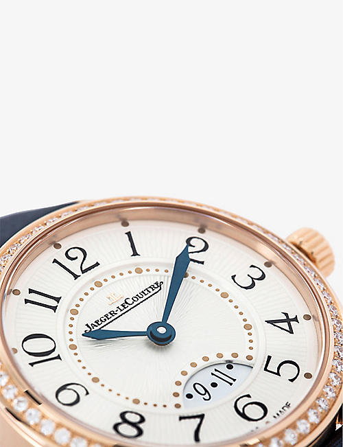 JAEGER-LECOULTRE Q3402530 Rendez-Vous 18ct rose-gold and alligator strap strap watch