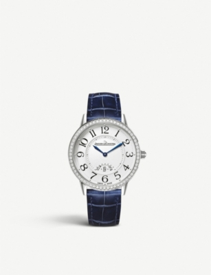 JAEGER-LECOULTRE Q3408530 Rendez-vous stainless steel, diamond and alligator strap watch