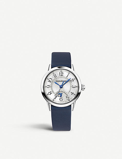 JAEGER-LECOULTRE: Q3468410 Night and Day Rendez–Vous leather and steel watch
