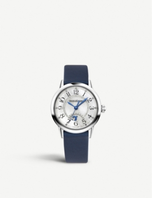 JAEGER-LECOULTRE Q3468410 Night and Day Rendez – Vous alligator leather and steel watch