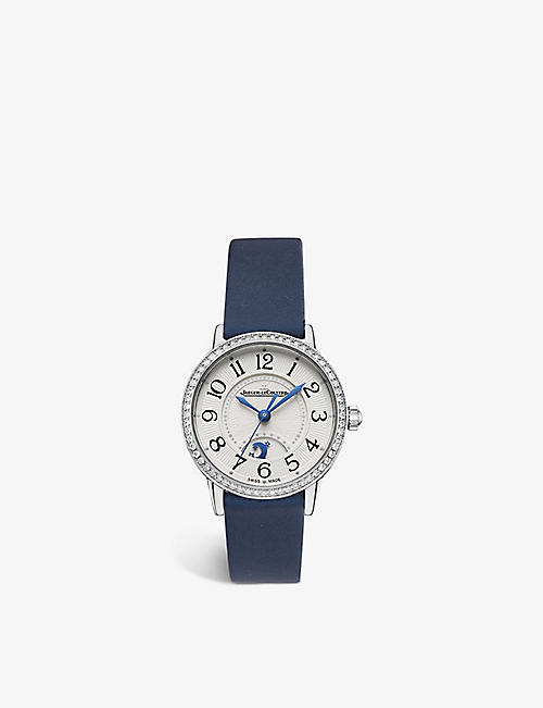 JAEGER-LECOULTRE: Q3468430 Night and Day Rendez–Vous leather and steel watch