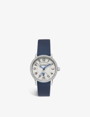 JAEGER-LECOULTRE Q3468430 Night and Day Rendez – Vous alligator leather and steel watch