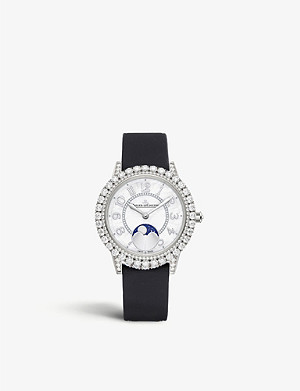 JAEGER-LECOULTRE Q3523570 Rendez-Vous Moon white-gold, diamond and leather watch