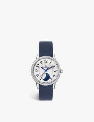 JAEGER-LECOULTRE Q3578420 Rendez – Vous Moon alligator leather, stainless steel and diamond watch