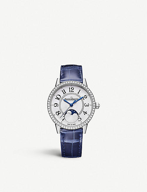 JAEGER-LECOULTRE Q3578430 Rendez-Vous Moon stainless steel, diamond and leather watch