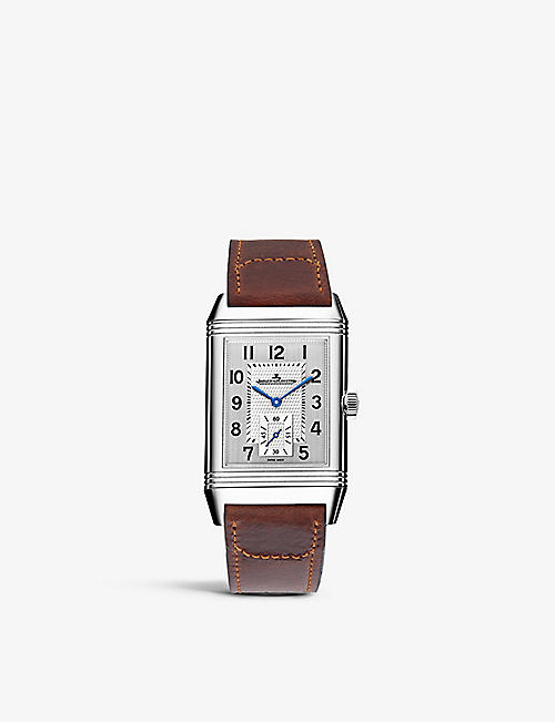 JAEGER-LECOULTRE: Q3848420 Reverso Classic duoface stainless steel and leather watch