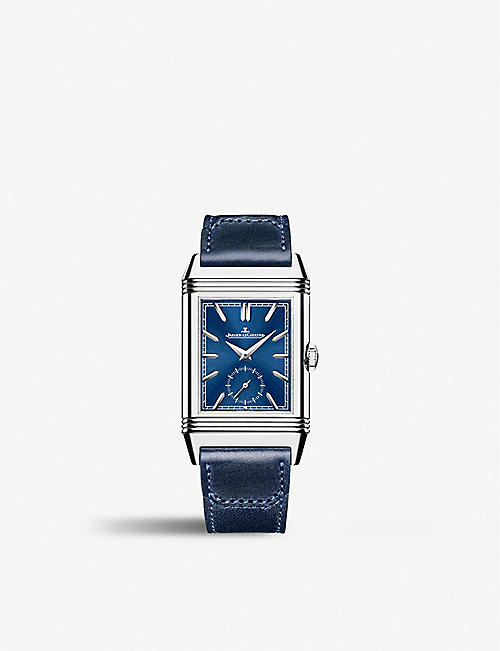 JAEGER-LECOULTRE: Q3988482 Reverso Tribute Duoface stainless steel and leather watch