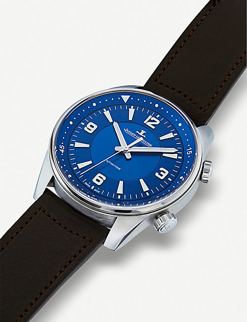 JAEGER-LECOULTRE Q9008480 Polaris stainless steel and leather strap watch