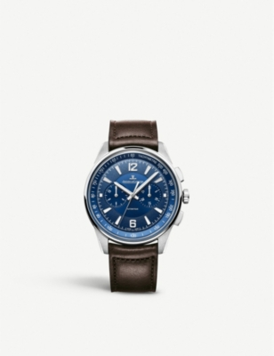 JAEGER-LECOULTRE Q9028480 Polaris stainless steel and leather watch