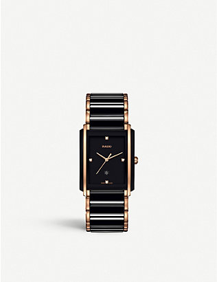 RADO: R20207712 Integral ceramic and rose gold watch