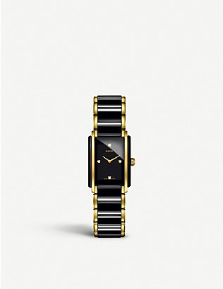 RADO: R20845712 Integral ceramic and yellow gold watch