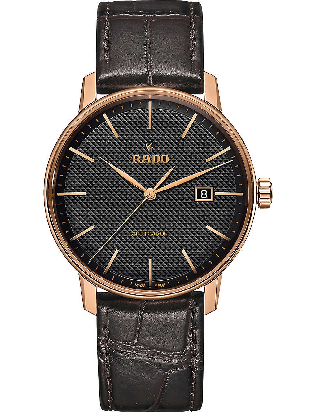 RADO: R22877165 Coupole Classic gold-plated stainless steel watch