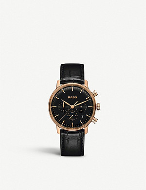 RADO R22911165 Coupole Classic stainless-steel and leather watch