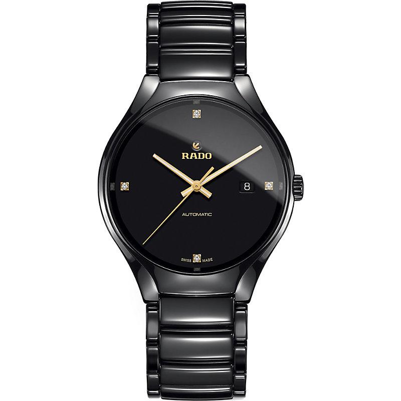 RADO True Automatic Diamond Ceramic Bracelet Watch, 40Mm in Black